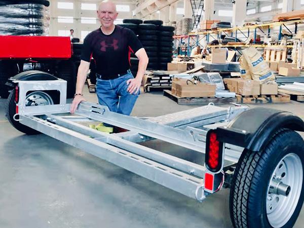Disc Brake Galvanized Car Tow Dolly 1