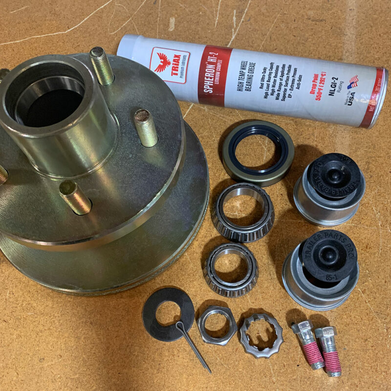2020 Generation Galvanized Dollies & Later - 1 Hub & Rotor Assembly Complete 1