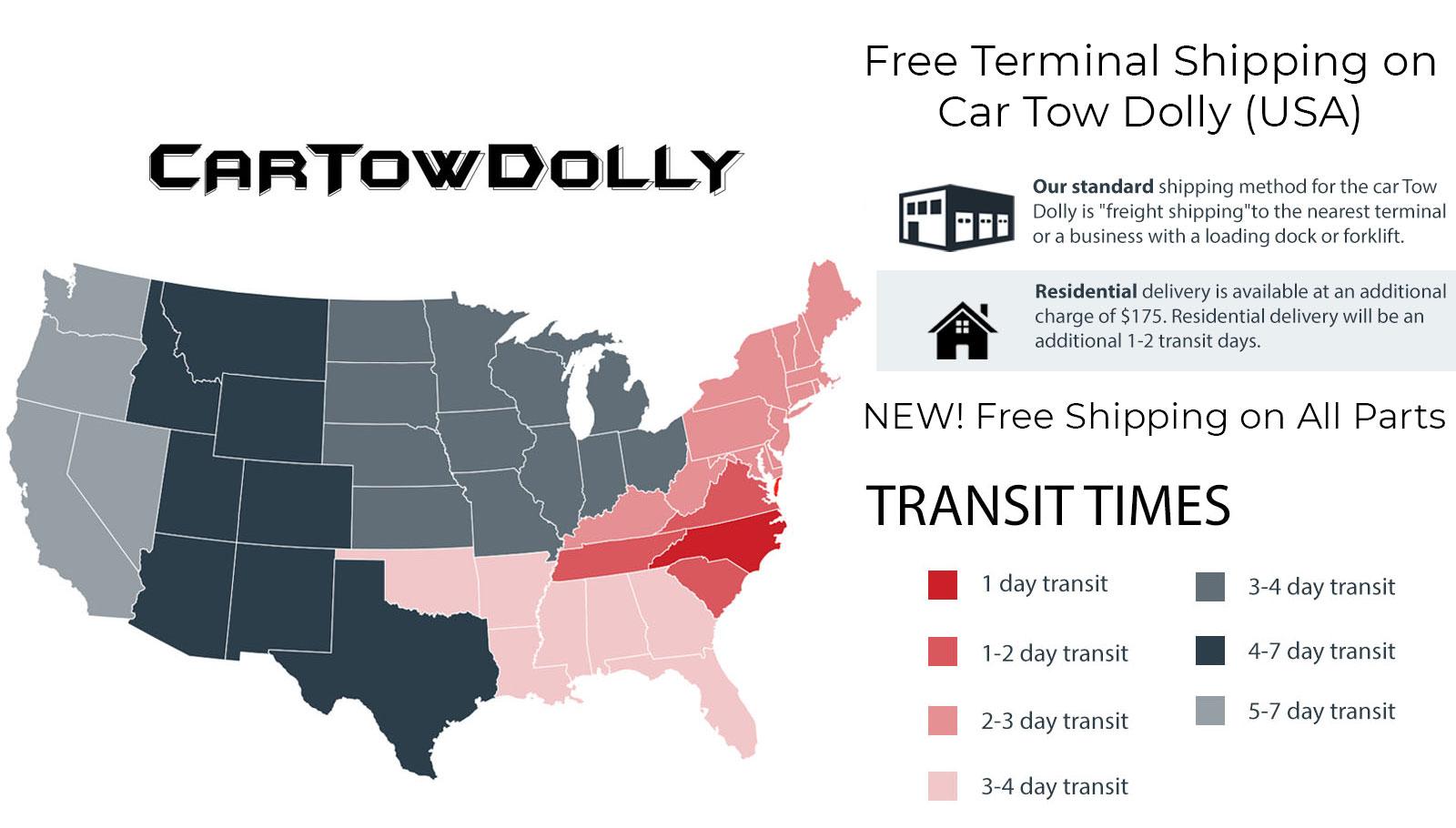 Car Tow Dolly Shipping